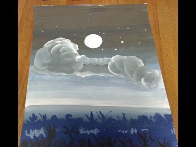 Нарисовать звёздное небо своими руками